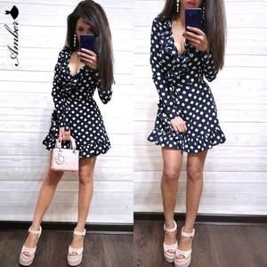 Платье короткое с длинным рукавом Ч0533