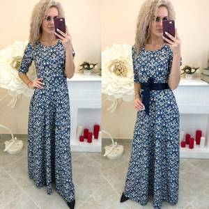 Платье длинное с принтом Ш8199