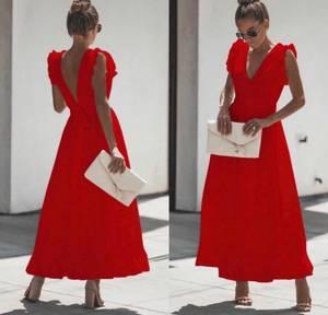 Платье длинное однотонное Ч0707