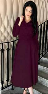 Платье длинное однотонное Ю0654