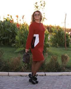 Платье короткое с длинным рукавом А34581