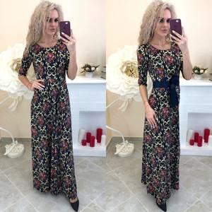 Платье длинное с принтом Ш8200