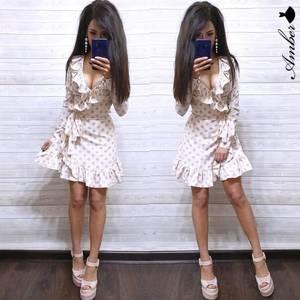 Платье короткое с длинным рукавом Ч0534