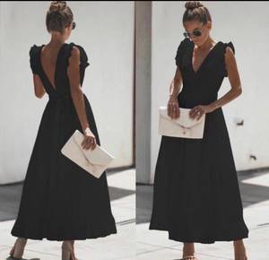 Платье длинное однотонное Ч0708