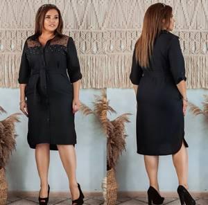 Платье короткое однотонное Я4026