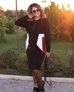 Платье короткое с длинным рукавом А34582