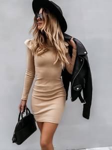 Платье короткое с длинным рукавом А55065