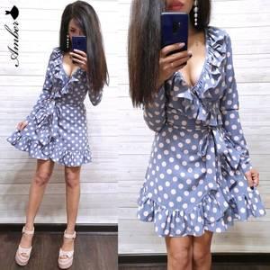 Платье короткое с длинным рукавом Ч0535