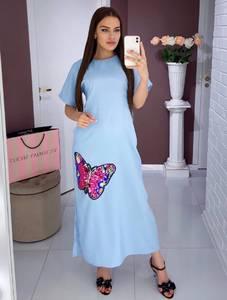 Платье длинное нарядное Ю0417