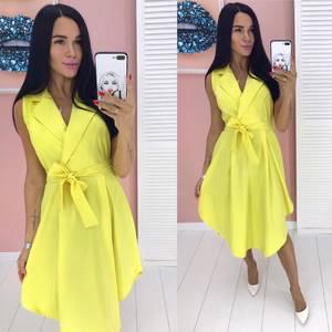 Платье длинное желтое А09545