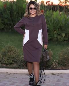 Платье короткое с длинным рукавом А34583