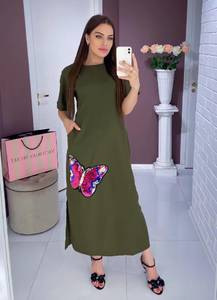 Платье длинное нарядное Ю0418