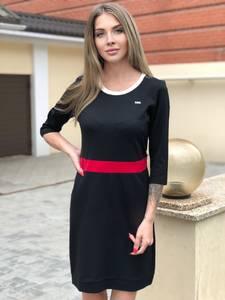 Платье короткое с длинным рукавом Ю4941