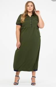 Платье длинное однотонное Я8551