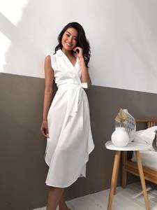 Платье длинное белое А09544