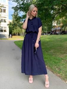 Платье длинное однотонное Ч1666