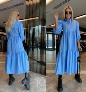 Платье длинное однотонное А52058