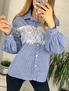 Рубашка с кружевом Я1206