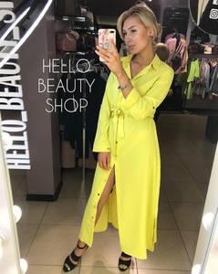 Платье длинное желтое А09547