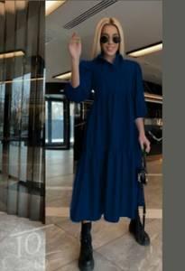 Платье длинное однотонное А52059