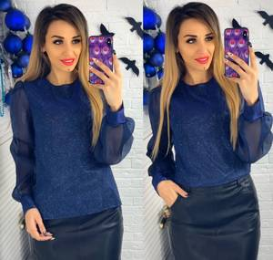 Блуза с длинным рукавом Ю1501
