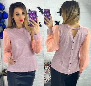 Блуза с длинным рукавом Ю1502