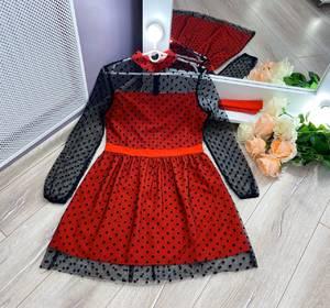 Платье короткое с длинным рукавом Ю4361