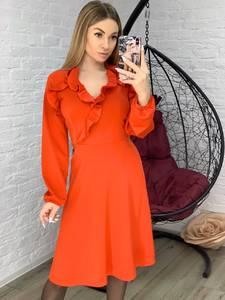 Платье короткое с длинным рукавом Я1006
