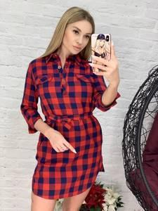 Платье с рукавом 3/4 короткое Я4156