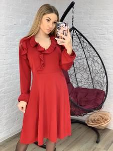 Платье короткое однотонное Я1007