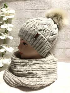 Шапка и шарф Хомут Ш3347