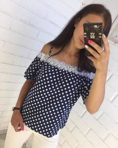 Блуза с кружевом Ц8181