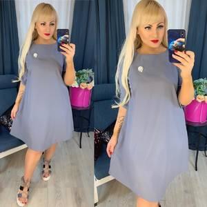 Платье короткое однотонное Я0665