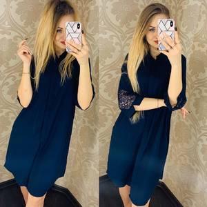 Платье короткое однотонное Я1753