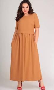 Платье длинное однотонное Я4113