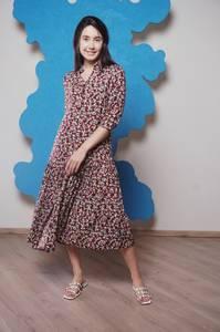 Платье длинное с принтом Ч1179