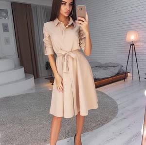 Платье короткое однотонное А02850