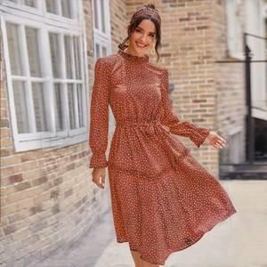 Платье короткое с длинным рукавом А32716