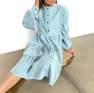 Платье короткое с длинным рукавом А33788