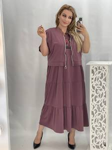 Платье Двойка длинное нарядное А50880