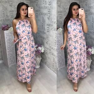 Платье длинное летнее Ц5655