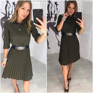 Платье короткое с рукавом 3/4 Ц5766