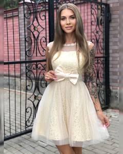 Платье короткое коктейльное Ч7298