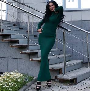 Платье длинное с длинными рукавами Ч9842
