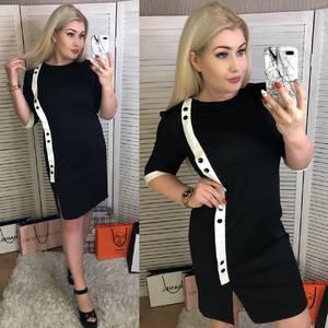 Платье короткое офисное Ш5543