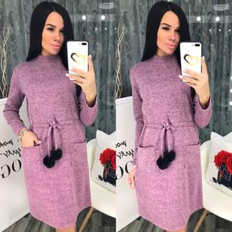 Платье короткое теплое Ш6786