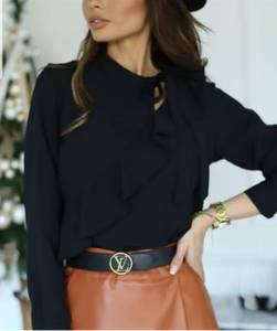 Блуза с длинным рукавом А24853