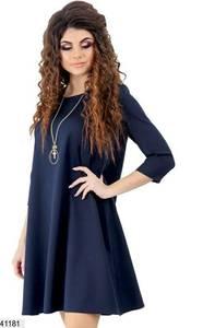 Платье короткое однотонное Ю2700