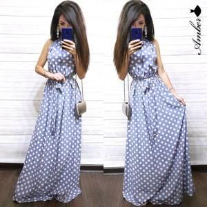 Платье длинное с открытыми плечами Ч0520