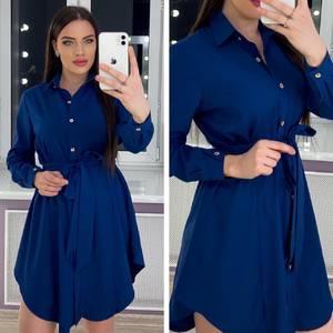 Платье короткое с длинным рукавом Ю9997